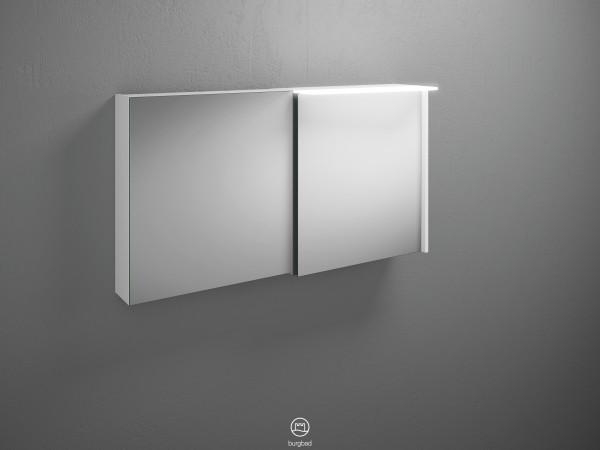 Burgbad Spiegelschrank Badu, 665x1200x310 Weiß Matt