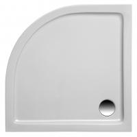 Brausetasse Denia 800x800x30 mm, weiß (Radius 550 mm)