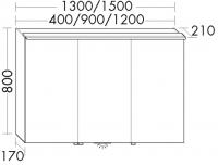 Burgbad Spiegelschrank Sinea 2.0 800x1300x200 Weiß Matt, SFHD130LF2781