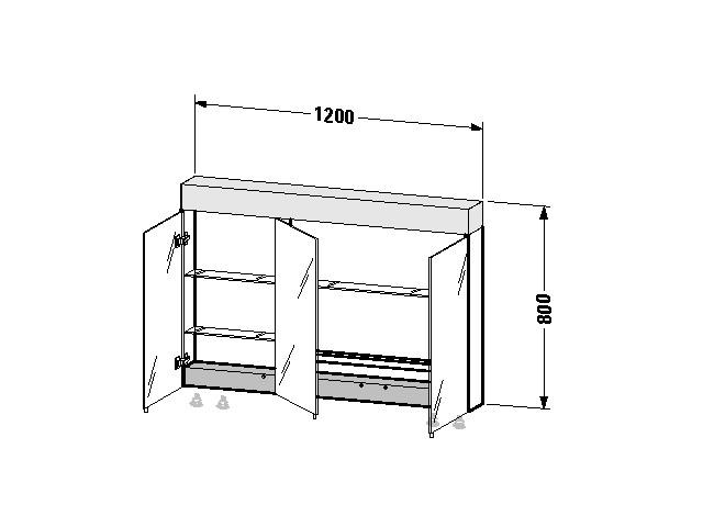 Spiegelschrank Vero 142x1200x800mm VE760400000