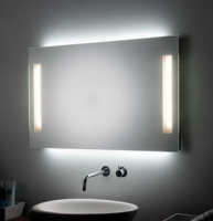 KOH-I-NOOR PL Spiegel mit Raumbeleuchtung und Spiegelbeleuchtung, B: 70 cm, H: 90 cm