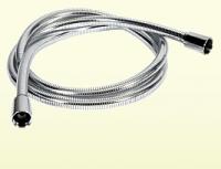 Neuesbad Kunststoff Brauseschlauch Luxus 125 cm, geriffelte Optik, beidseitiger Drehwirbel