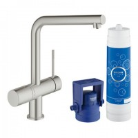 Grohe Blue Minta Pure Starter Kit 31345, für BWT-Filter L-Auslauf supersteel