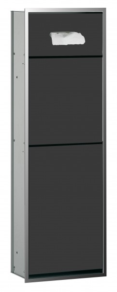 Emco asis Kosmetik-Modul (300), Unterputz, 964mm, chrom/schwarz, 977027962