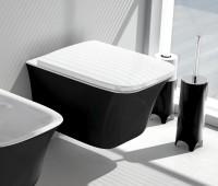 ArtCeram Cow Wand-Tiefspül-WC, B: 380, T: 520 mm, schwarz weiss Dekor
