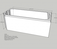 Neuesbad Wannenträger für Kaldewei Saniform/Star (g) 160x70 KE re/FE li, V1+3 (1s1g)