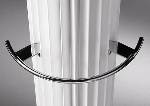 Jaga Iguana Handtuchhalter aus verchromten Aluminium für Heizkörperbreite 278mm und 313mm