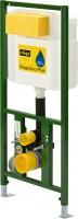 Viega WC Element Viega Eco Plus 8161.95, in 1130mm Stahl grün
