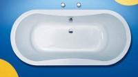 Hoesch Badewanne Tacna oval 1800x800, weiß