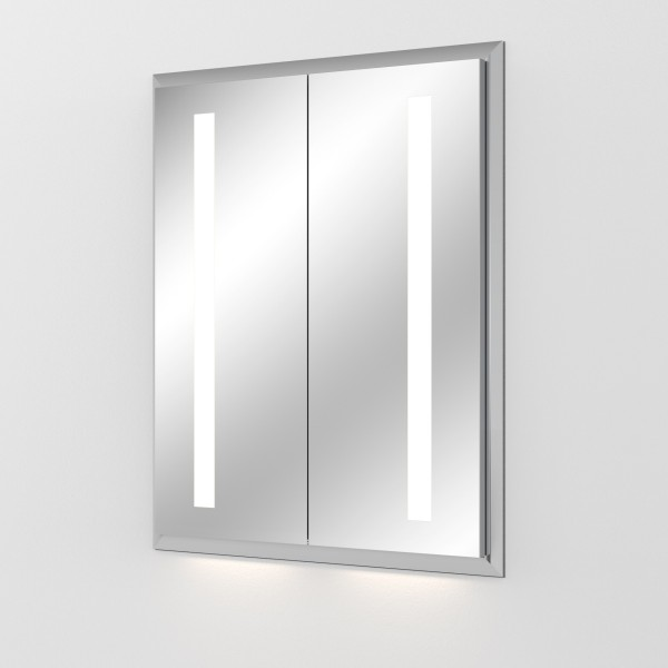 Sanipa Alu LED Einbau-Spiegelschrank Reflection In, AU3016L, Breite:649mm, Höhe:750mm, Tiefe:173mm