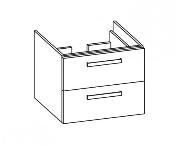 Artiqua 416 Waschtischunterschrank für Integra 7058, Weiß Glanz, 416-WU2L-VT20-7050-68
