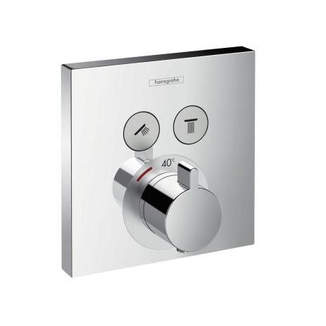 Hansgrohe Thermostat Unterputz ShowerSelect Fertigset 2 Verbraucher chrom, 15763000
