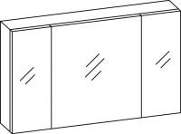 Artiqua COLLECTION 414 Spiegelschrank B:1300mm 3 Doppel-Spiegel-Türen