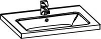 Artiqua COLLECTION 415 KeramikWaschtisch SWT Fino710 B:710mm