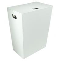 Koh-I-Noor ECOPELLE Wäschekorb, mit Innensack 47x60x30, Weiß, 2263VV
