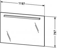 Duravit Spiegel mit Beleuchtung Fogo, T:23/76, B:1200, H:797mm, FO96800