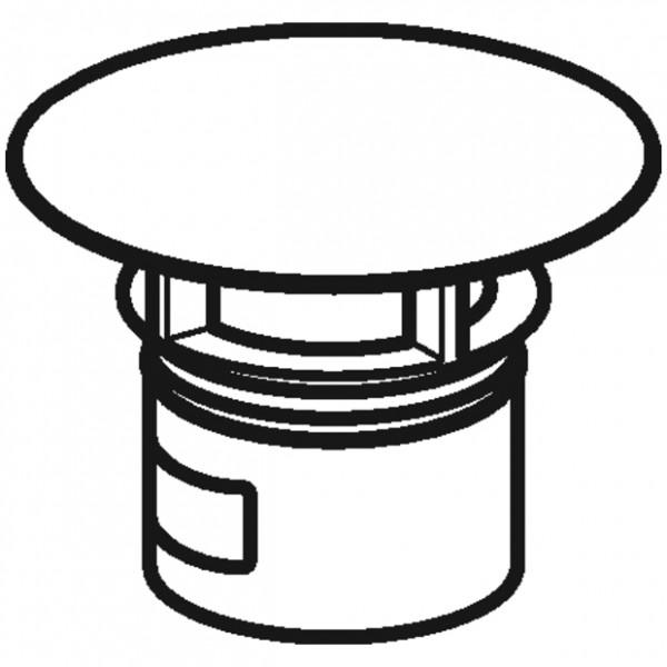 Geberit Ventilabdeckung für WB-Anschluss Clou, Farbe natur (unbehandelt), 241993291