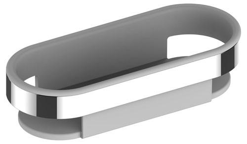 Keuco Duschkorb Smart.2 14758, Kunststoff-Einsatz, weiß, lose, 14758000100