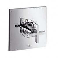 Hansgrohe Thermostat Unterputz Axor Citterio High Flow Fertigset chrom mit Kreuzgriff, 39716000