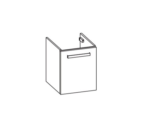 Artiqua 411 Waschtischunterschrank für DuraSquare 073245, Eiche Weiß quer NB, 411-WUT-D72-L-7185-440