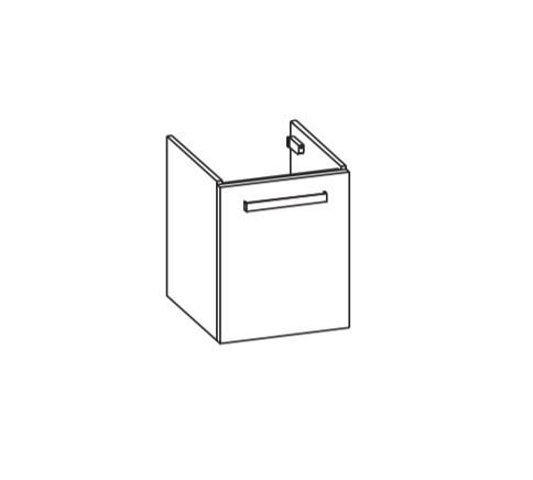 Artiqua 411 Waschtischunterschrank für DuraSquare 073245, Oxid Dunkelgrau quer, 411-WUT-D72-R-7184-7