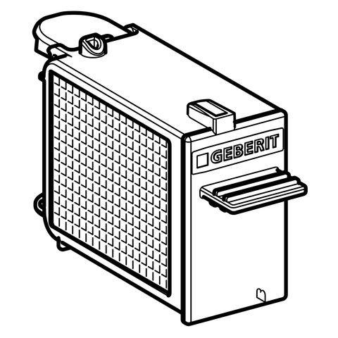 Geberit Schublade mit Filter für Geruchsabsaugung, 243970001