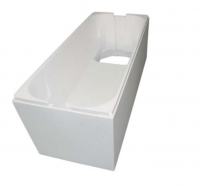 Neuesbad Wannenträger für Keramag iCon 180x85 oval, Mittelabl.