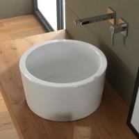 Scarabeo Bucket Aufsatzwaschbecken Ø 35 cm, weiss, 8808