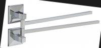 KOH-I-NOOR Tilda 5706 Schwenkbarer Handtuchhalter 33x5,5x12 cm chrom, einfache Montage ohne Bohren