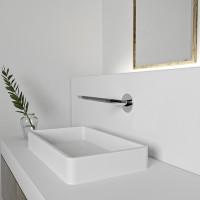 Steinberg Serie 260 Auslauf für Waschtisch oder Wanne, Ausladung 200 mm, chrom, 2602310