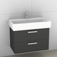 Artiqua Serie 414 Waschtischunterschrank mit 2 Auszügen, Raumsparsiphon im Lieferumfang enthalten, 4