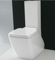 Axa one Serie 138 Stand-Tiefspül-WC für Kombination, B: 400 mm, T: 670 mm, weiss glänzend