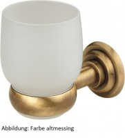 Zahnbürstenglas mit Halter Siena chrom