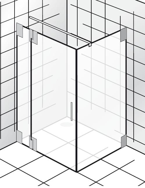 HSK K2.23 Drehtür an Nebenteil und Seitenwand K2.23 bis max. 1000 mm ja nein bis max. 1000 mm nein nein Echtglas klar hell bis max. 2000 mm Stangengriff K2 groß (390 mm) nicht pendelbar