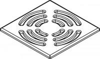 Kermi BA Ablaufabdeckung Basic (EDS) für Ablauf Point grau, 6038363