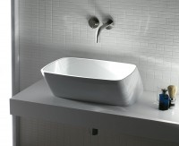 Axa one Serie 138 Waschtisch ohne Hahnloch, B: 500, T: 500 mm, weiss glänzend