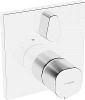 Hansa Funktionseinheit mit Dekorset Thermostat Wanenbatterie Hansaliving 8114, chrom, 81149562