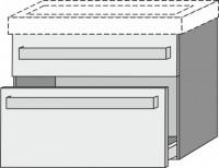 Sanipa Waschtischunterschrank Up2U GT22578 X, Weiss-Glanz, H:581, B:750, T:449 mm