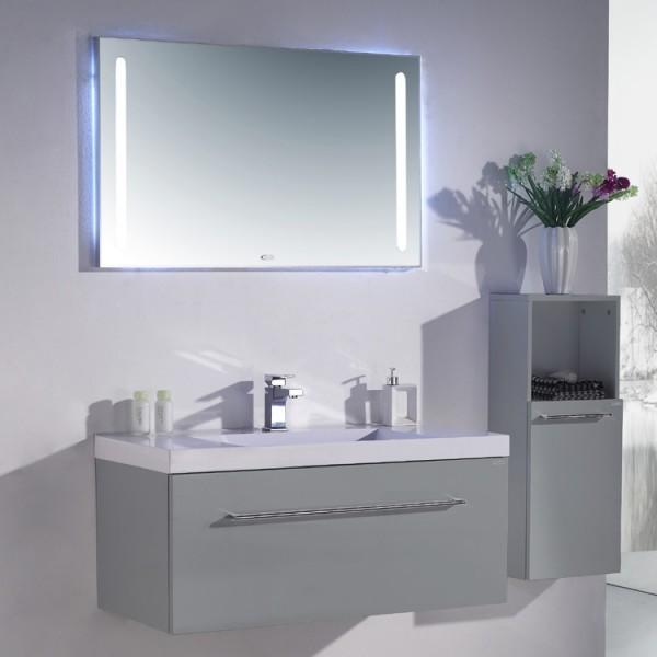 Neuesbad 1000 Badmöbelset 100 cm Breite, inklusive Waschtisch, Unterschrank und Spiegel