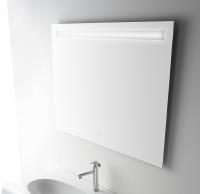 Globo Bowl+ Wandspiegel, B: 1100, H: 700 mm, mit Hintergrundbeleuchtung