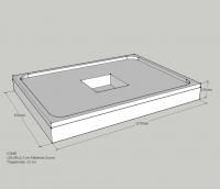 Schedel Wannenträger für Kaldewei Scona 900x1200x23