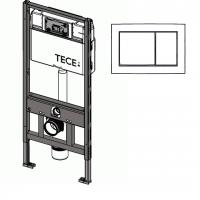 WC-Modul m.TECE Spültechnik BH: 1120 mm, inklusive TECEbase Betätigungsplatte weiss
