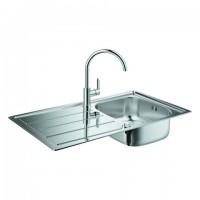 GROHE Spülen-Bundle Bau 31562 K200 mit Edelstahlspüle/BauEdge Küchenarmatur , 31562SD0