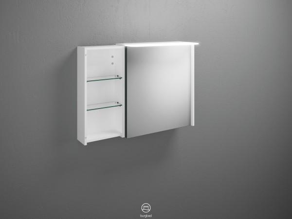 Burgbad Spiegelschrank Badu, 665x900x310 Weiß Matt