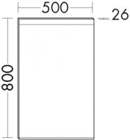 Burgbad Cala 2.0 Spiegel SIGQ050, B:500, T:26, H:800mm