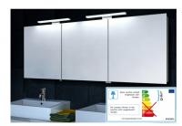 Neuesbad LED Aluminium Spiegelschrank, B:1600, H:600 mm