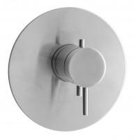 Herzbach Design iX Brause Thermostat, Blende rund Edelstahl, 17.130550.2.09
