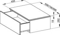 Bette Modules Sideboard m. Abdeckpl 1 Aus, 80x49,5 cm weiß Hochglanz, wandhängend, RC09-800
