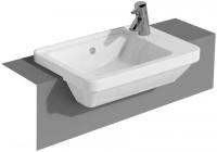 VitrA Halbeinbauwaschtisch VitrA S50 550, x 370 mm 1 Hahnloch rechts weiss, 5340B003-0029