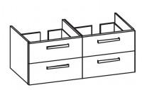 Artiqua 414 Waschtischunterschrank mit 4 Auszügen, passend zu Venticello 4111DG, B:125, T:48,1, H:49